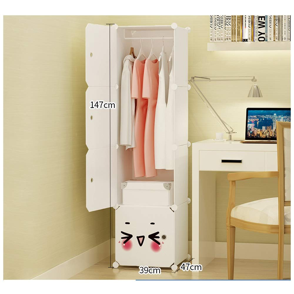 Wardrobe Simple Assembly Wardrobe Plastic Storage Wardrobe Economical Simple Modern Wardrobe (Color : Natural, Size : 4A)