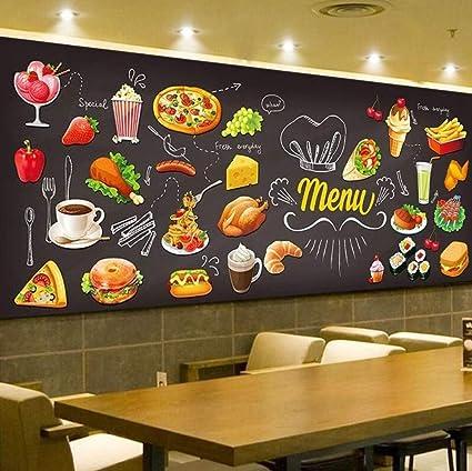 Pizarra personalizada Graffiti Comida Mural Papel tapiz ...