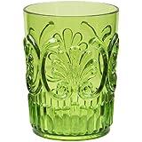 Le Cadeaux Fleur 16 oz Water Glass, Light Green