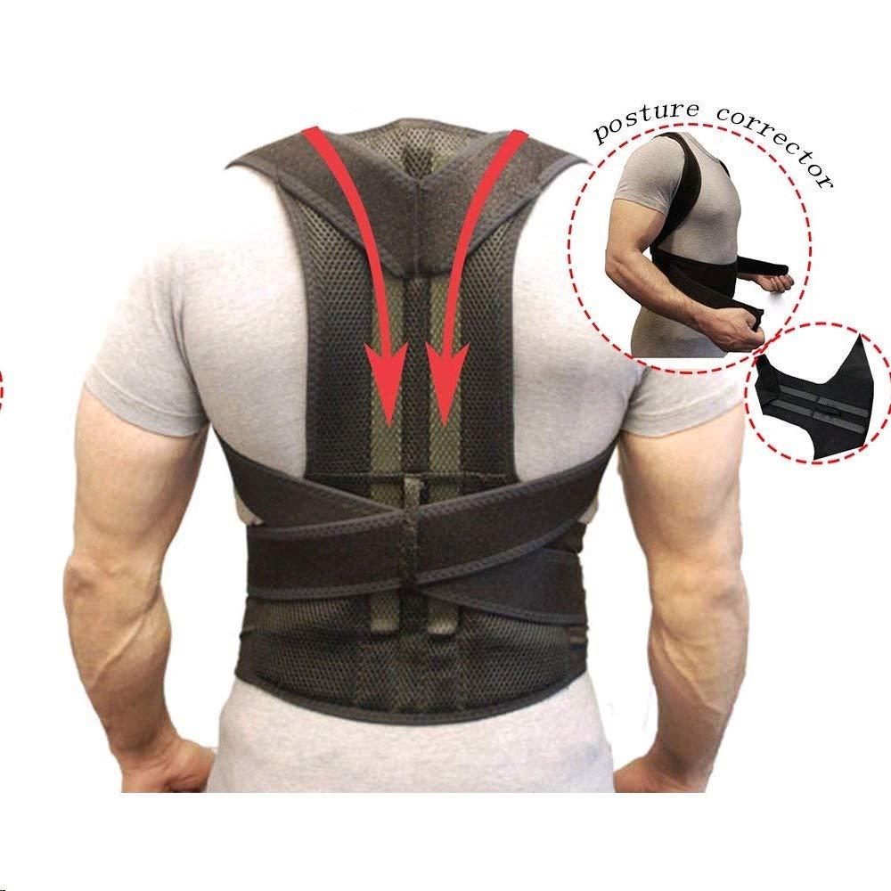 SISHUINIANHUA Posture Corrector Back Support Belt Orthopedic Posture Corset Back Brace Support Back Straightener Adjustable Shoulder Wrap,M
