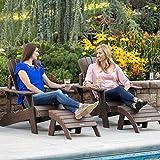 Lifetime 60294 Adirondack Chair and Ottoman