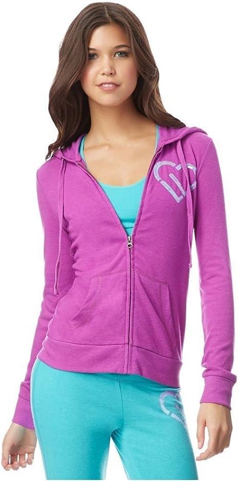 Aeropostale Womens Velour Hoodie Sweatshirt