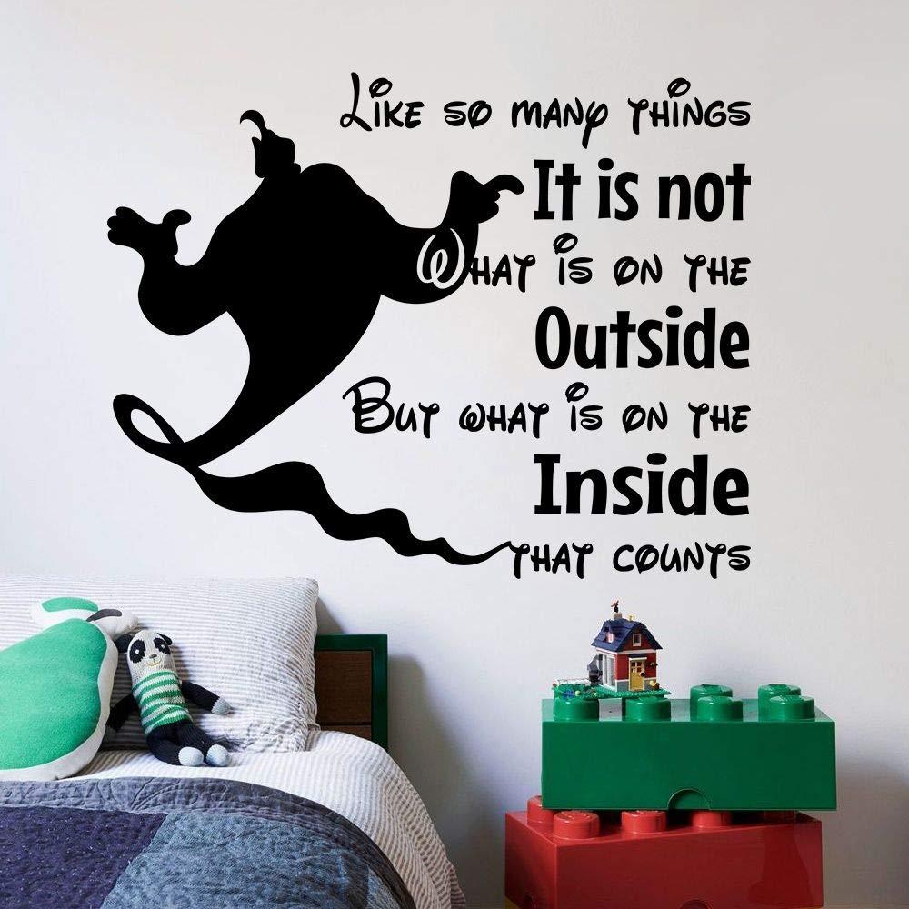 Aladdin Magic Genie Quote Disney Cartoon Quotes Wall Sticker Art Decal for Girls Boys Room Bedroom Nursery Kindergarten House Fun Home Decor Stickers Wall Art Vinyl Decoration Size (10x10 inch)