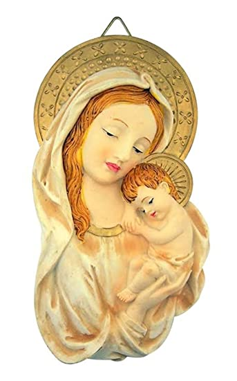 Amazon.com: The Blessed Virgin Mary Madonna with Christ Child Wall ...