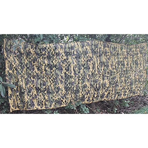 AUSCAMOTEK Stealth Ghost Desert Camouflage Hunting Camo Netting Blind Good for Camping Military Shooting 2 Layer Design 5ft x 13ft