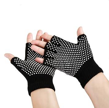 Amazon.com : Xinzechen Cotton Half Finger Yoga Gloves with ...