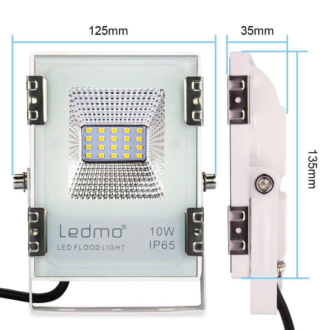 LEDMO 10w led strahler Warmwei/ß Fluter Floodlight Licht Scheinwerfer Au/ßenstrahler Wandstrahler IP65 Wasserdicht AC200-240V