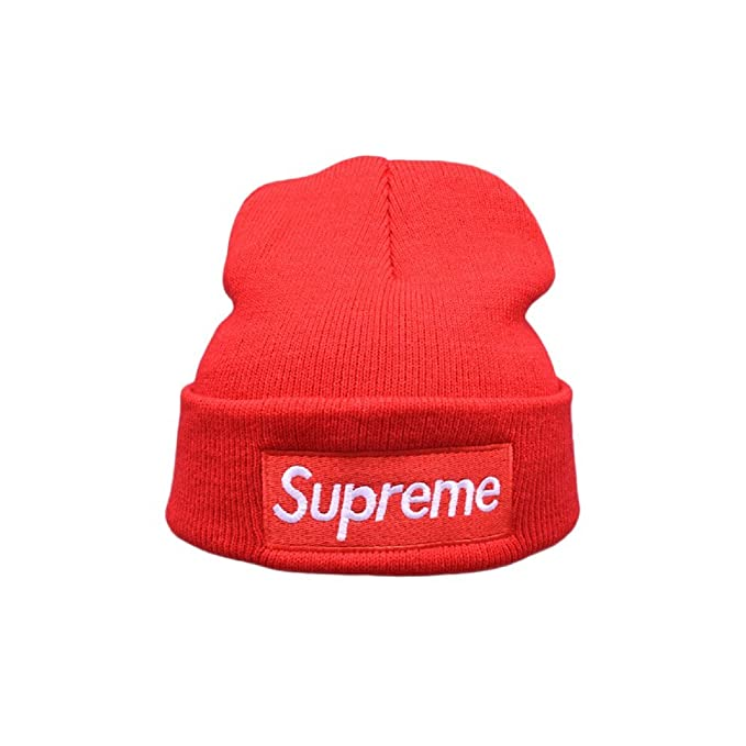 Supreme Hat Toque - Soft Lined Thick Knit Skull Cap - Winter (Unisex)  (Red)  Amazon.ca  Clothing   Accessories a77fe49267de