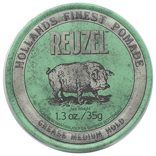 Reuzel Medium Shine Green Pomade, 1.3 oz