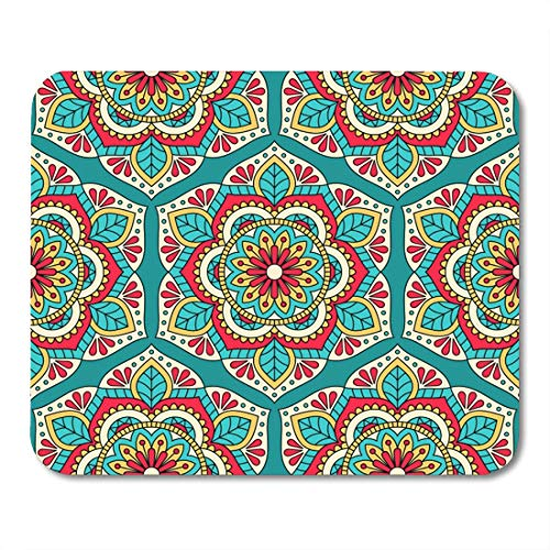 (Boszina Mouse Pads Vintage India with Mandala Ornamental Ethnic Indian Spa Damask Abstract Mouse Pad for notebooks,Desktop Computers mats 9.5