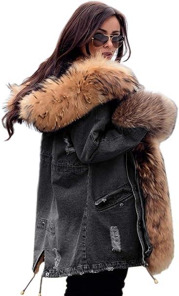 TALLA [8]. Roiii Abrigos con capucha de lana parkas, chaqueta con cremallera de invierno y cálido para ropa informal y exterior