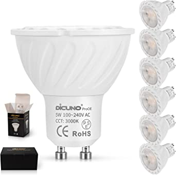LED GU10 Dimmable Lamp 5W Warm White 350lm