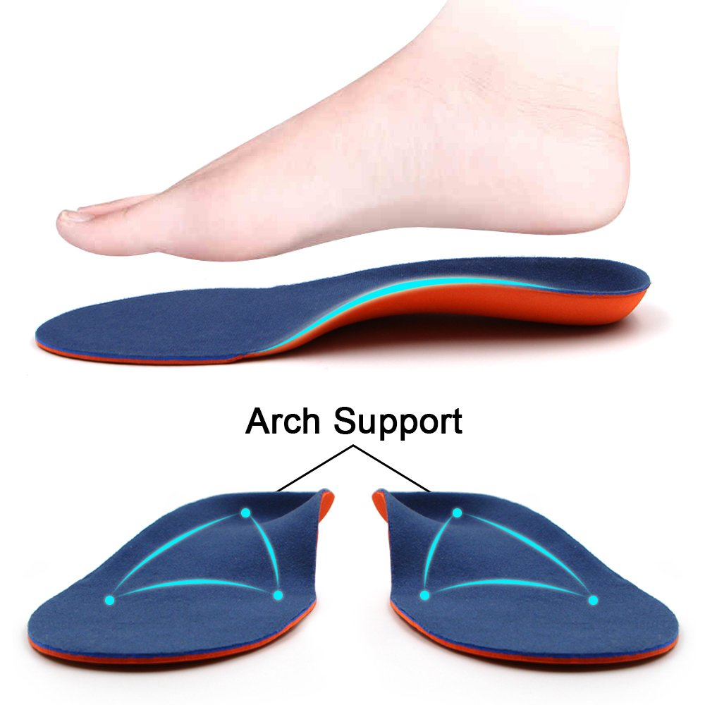 Dr. Foot\'s Orthotics Insoles for Flat Feet - Arch Support Shoe Inserts for Plantar Fasciitis, Foot & Heel Pain, High Arches and Over-Pronation, Comfort & Relief for Men and Women - M
