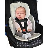 Vine Bebé Acolchado,Protector de cuerpo para coche,Colchoneta reversible para silla de paseo universal para bebés,Funda reversible silla de coche(Gris)