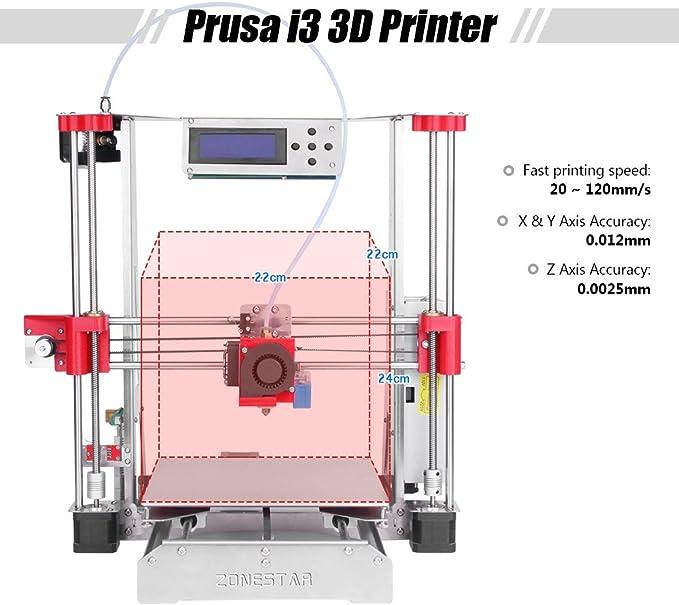 aibecy zonestar p802q i3 Metal FDM 3d impresora DIY Kit, soporte ...
