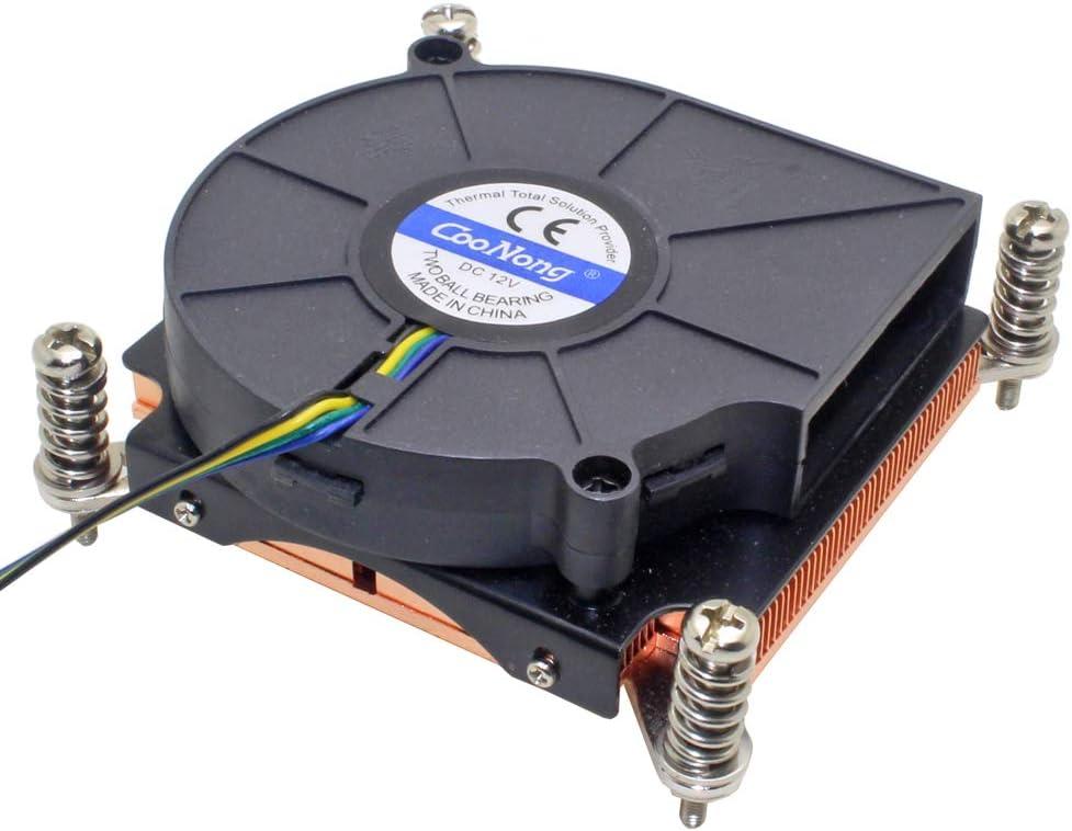 1U Server CPU Cooler Cooling Fan Copper Heatsink for Intel Xeon LGA 1366 1356 Industrial Workstation Computer Active Cooling