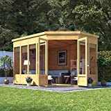 BillyOh Renna Tongue and Groove Corner Summerhouse (11x7 Doors on Right)