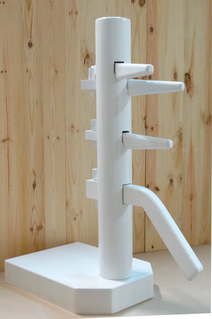 Wing Chun Wooden Dummy Closed Base White Color