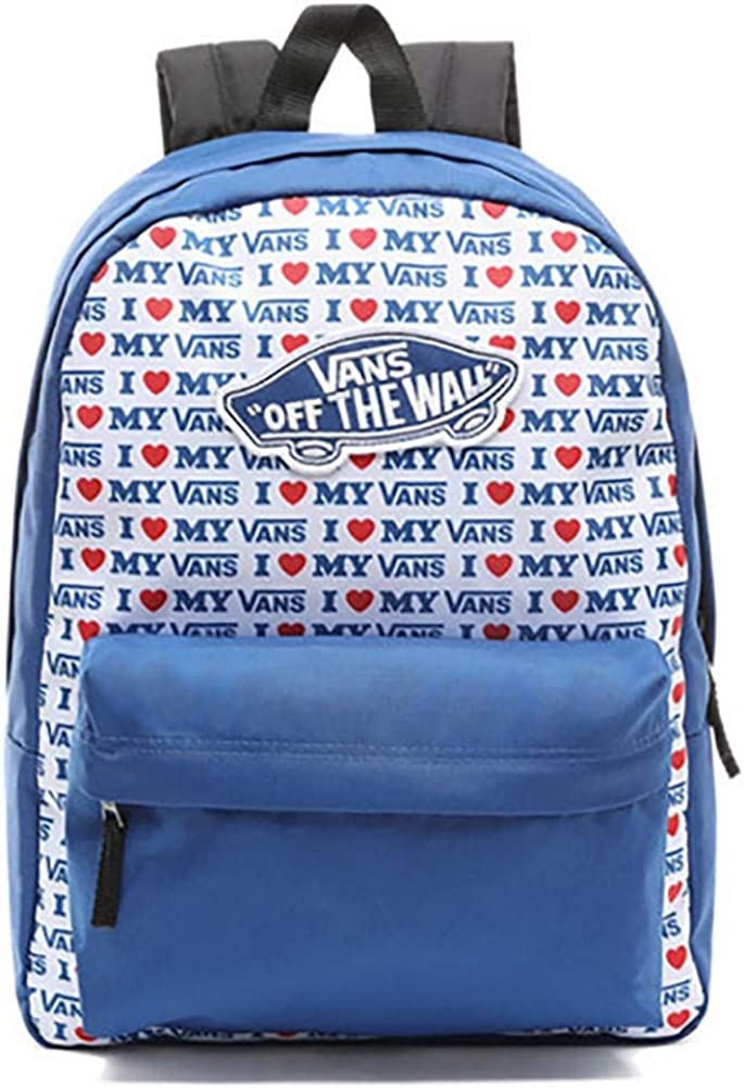 Vans Love Realm Backpack Red Blue Heart