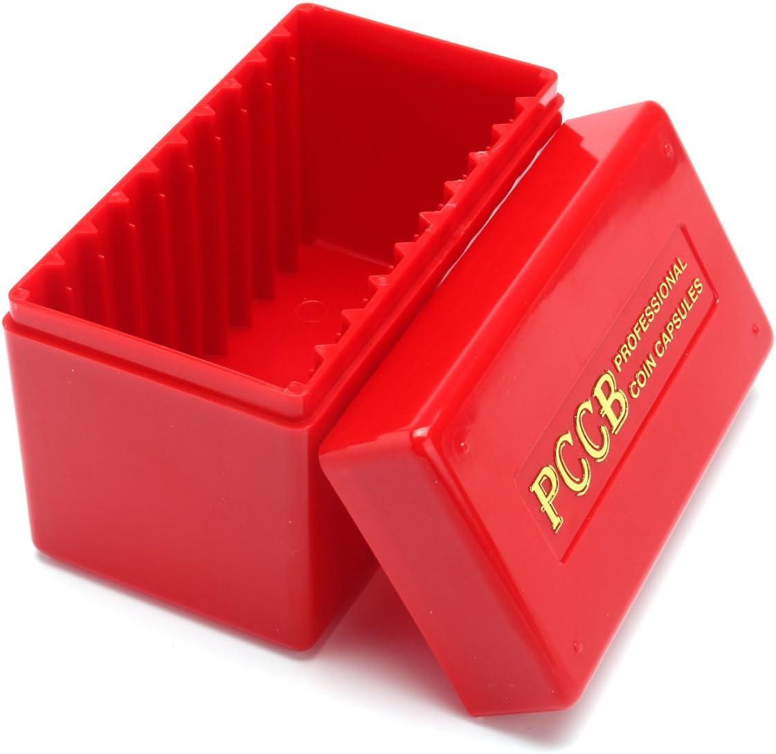 Tutoy - Caja organizadora de Monedas Rojas para 10 PCGS de Grado Certificado NGC Soporte de Monedas