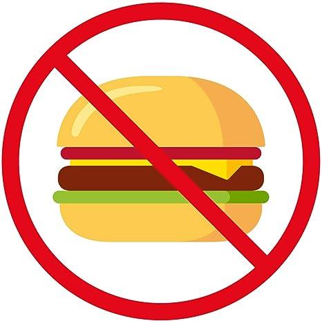 Amazon com: Healthy Eating No Junk Food Cartoon Icon Vinyl