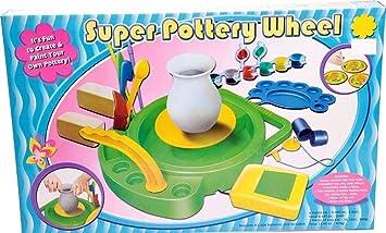 Premium Töpferscheibe XXL (Motor Ton Farben Pinsel UVM.) Töpferei Werkstatt Pottery Wheel Drehscheibe Basteln Spiel Lernspiel