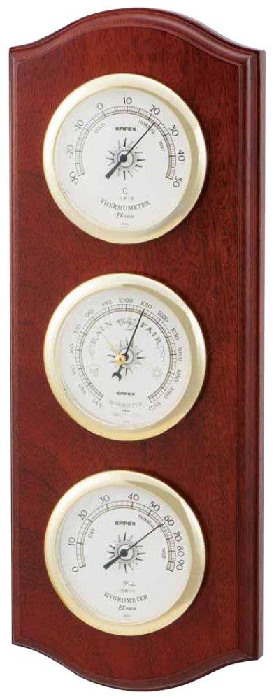 エンペックス気象計 温度湿度計 ウェザーガイド気象計 壁掛け用 日本製 ブラウン BM-716 B0039H7WIE