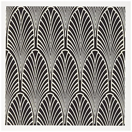 3dRose Art Deco Cream n Black Arch Design - Greeting Cards, 6 x 6 inches, set of 6 (gc_109819_1)