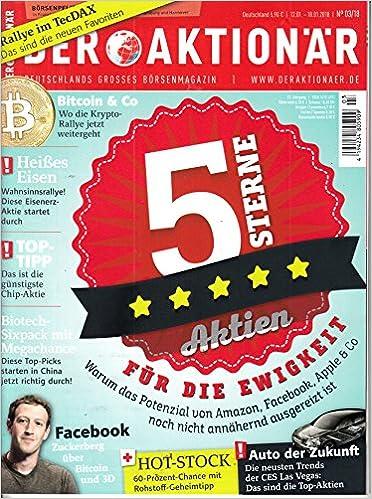 Aktionär 3 2018 Bitcoin Biotec Facebook Amazon Zeitschrift Magazin