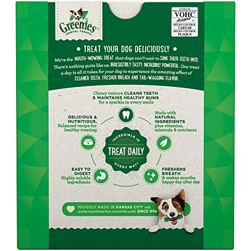 Greenies Original Regular Size Dental Dog Treats, 27 Oz. Pack (27 Treats)