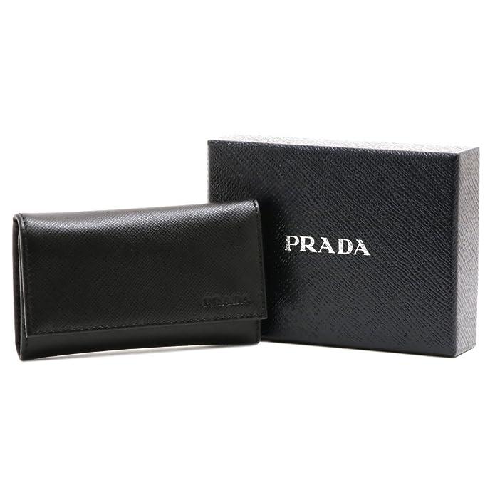 15e45339554a Amazon | (プラダ) PRADA キーケース 6連 OUTLET アウトレット 型押しレザー (ブラック) 2PG222 SAFFIANO  1(PN9) NERO [並行輸入品] | PRADA(プラダ) | キーケース