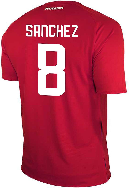 New Balance Sanchez #8 Panama Home Soccer Men's Jersey FIFA World Cup Russia 2018