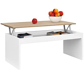 Comifort Lift Up Table Basse Moderne Table Basse Salle A Manger Ou Salon 1 02 X 50 2 X 43 52
