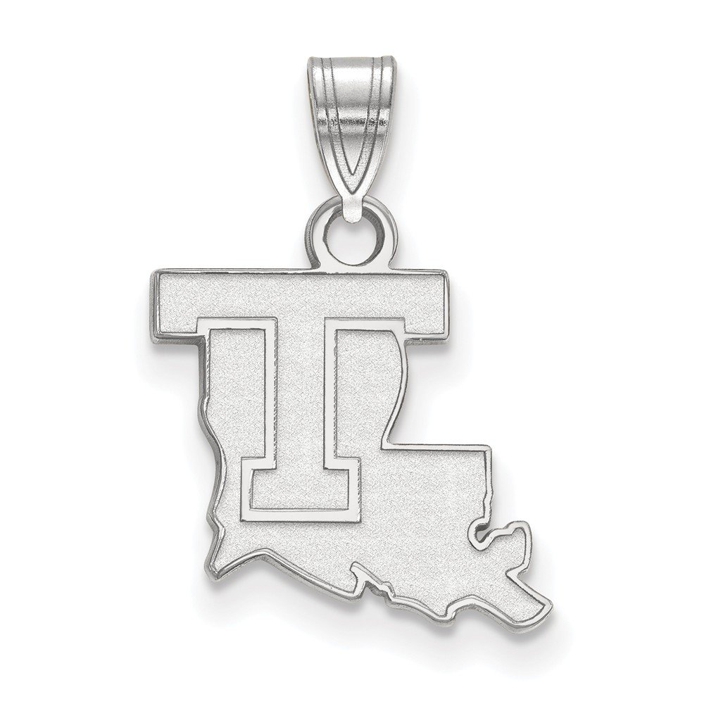 Solid 925 Sterling Silver Louisiana Tech University Small Pendant