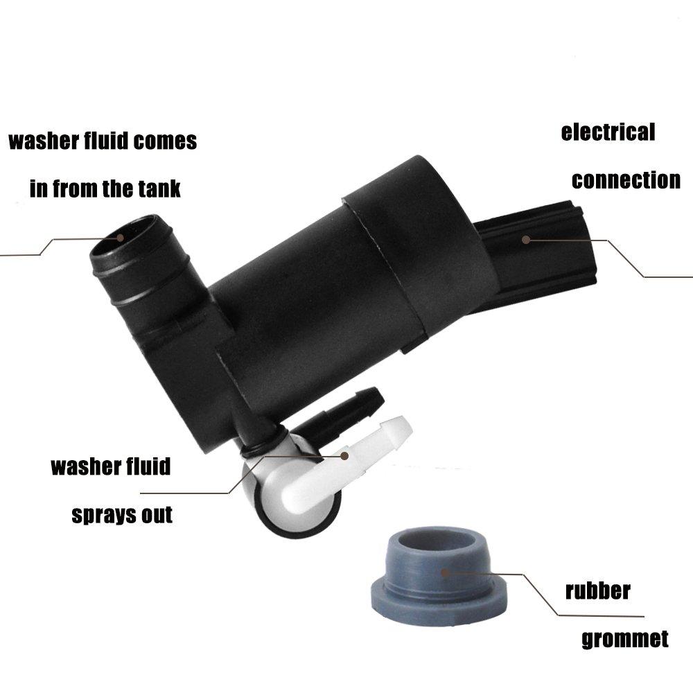 Mondeo OTUAYAUTO 1355124 Wischwasserpumpe f/ür Scheibenreinigung Galaxy Focus 2 Waschwasserpumpe
