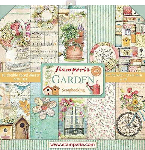 Stamperia - 12 x 12 Paper Pad - Garden by Stamperia Intl