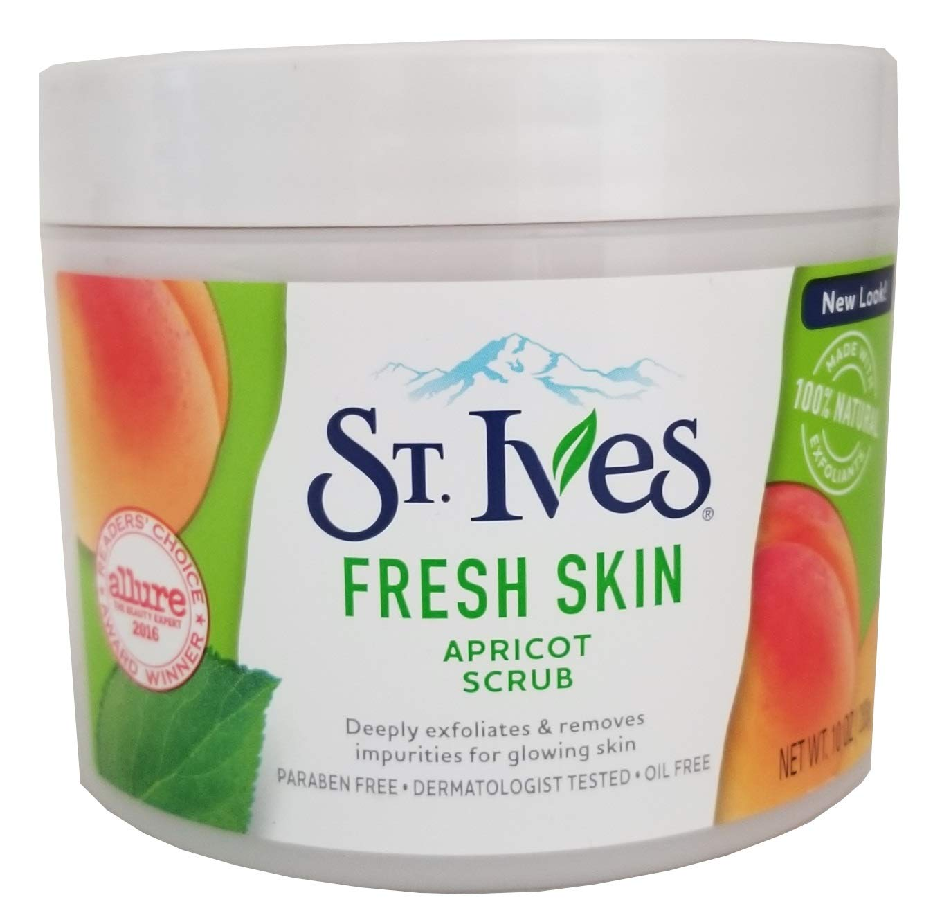 St. Ives Fresh Skin Exfoliating Apricot Scrub, 283ml, 10 fl.oz. (Pack of 3): Beauty