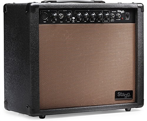 (Stagg 40 AA R USA 40 Watt RMS Acoustic Guitar Amplifier with Spring Reverb)