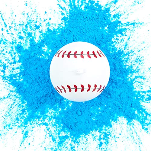 Ultimate Party Supplies Gender Reveal Baseball | Blue Exploding Powder Baseball | Gender Reveal Party Ideas