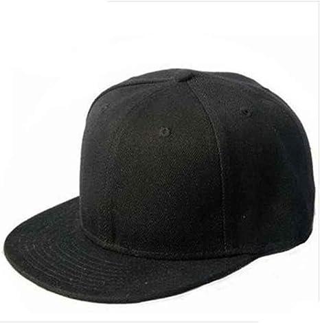 Culater® Nero Snapback Pianura Di Hip-Hop Del Berretto Da Baseball Ragazzo  Regolabile Cappello 26c749c2ded3