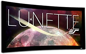 Elite Screens Lunette Series, 96-inch Diagonal 2.35:1, Sound Transparent Perforated Weave Curved Home Theater Fixed Frame Projector Screen, CURVE235-96A1080P3