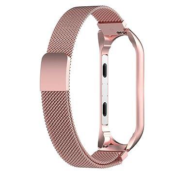Malloom Milanese Loop Correa de Acero Inoxidable Reemplazo Wristband Pulseras de Repuesto Bandas Fitness con Cerradura