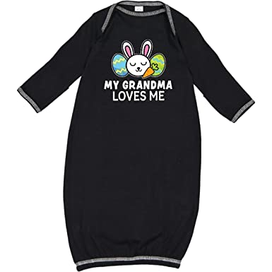 inktastic My Granma Loves Me with Bunny and Easter Eggs Baby T-Shirt