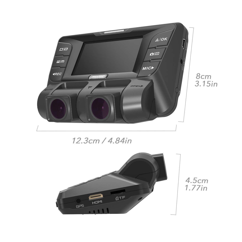 4K 2880/×2160P Dashcam Auto,2,7In Full HD WiFi Dual Sony Prozessor Vorne&Hinten Autokamera mit HDR&WDR Nachtsicht&Akku&G-Sensor Parkmonitor&Bewegungserkennung f/ür Park/überwachung,mit 128 GB SD Karte