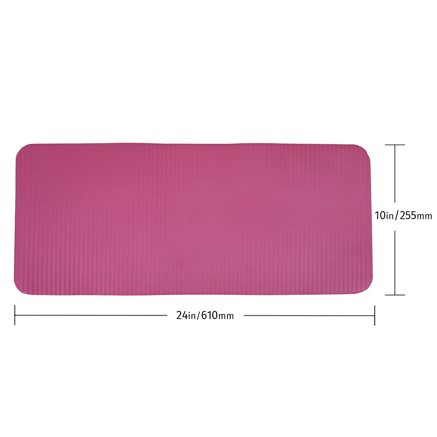 167619d1657 HDE Yoga Knee Pad 15mm Thick Anti-Slip Workout Mat for Yoga Pilates Fitness  and