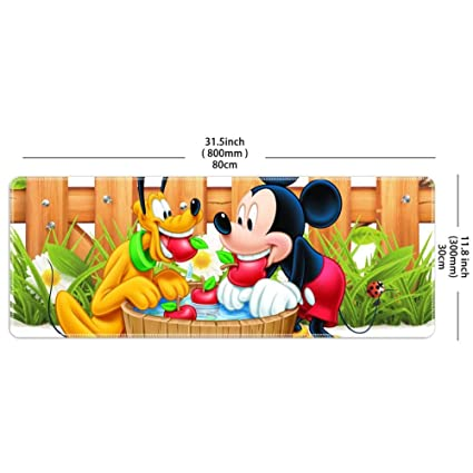 Amazoncom Mouse Pad Rectangle Stitched Edges Mickey Mouse