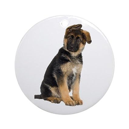 CafePress - German Shepherd! Ornament (Round) - Round Holiday Christmas  Ornament - Amazon.com: CafePress - German Shepherd! Ornament (Round) - Round