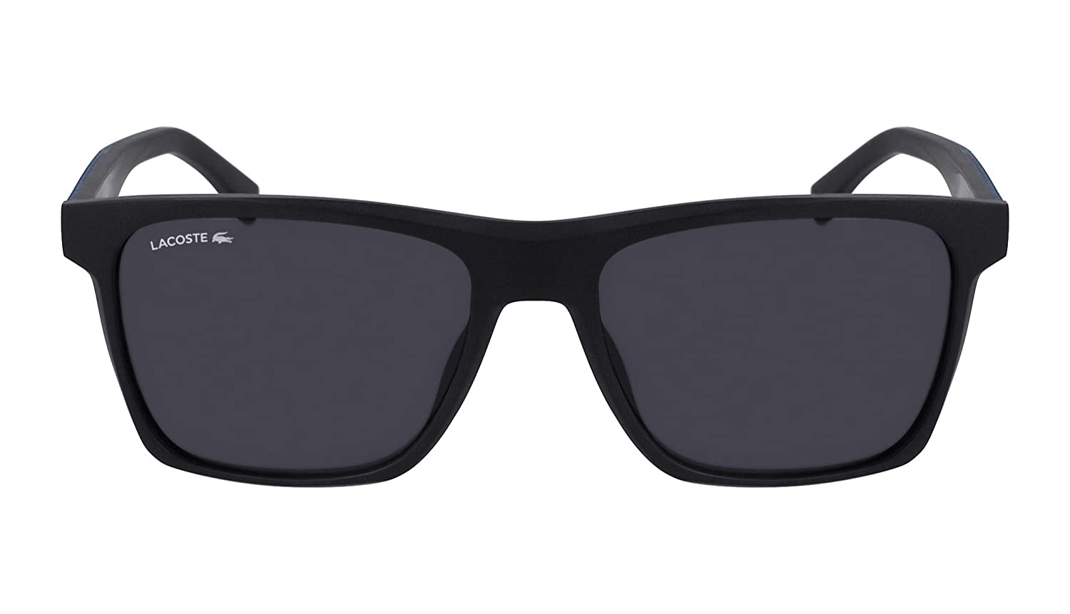 Lacoste Mens L900s L900S-001 Rectangular Sunglasses, Black Matte, 56.02 mm