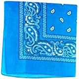 Cotton Double Sided Print Paisley Bandana Scarf, Head Wrap