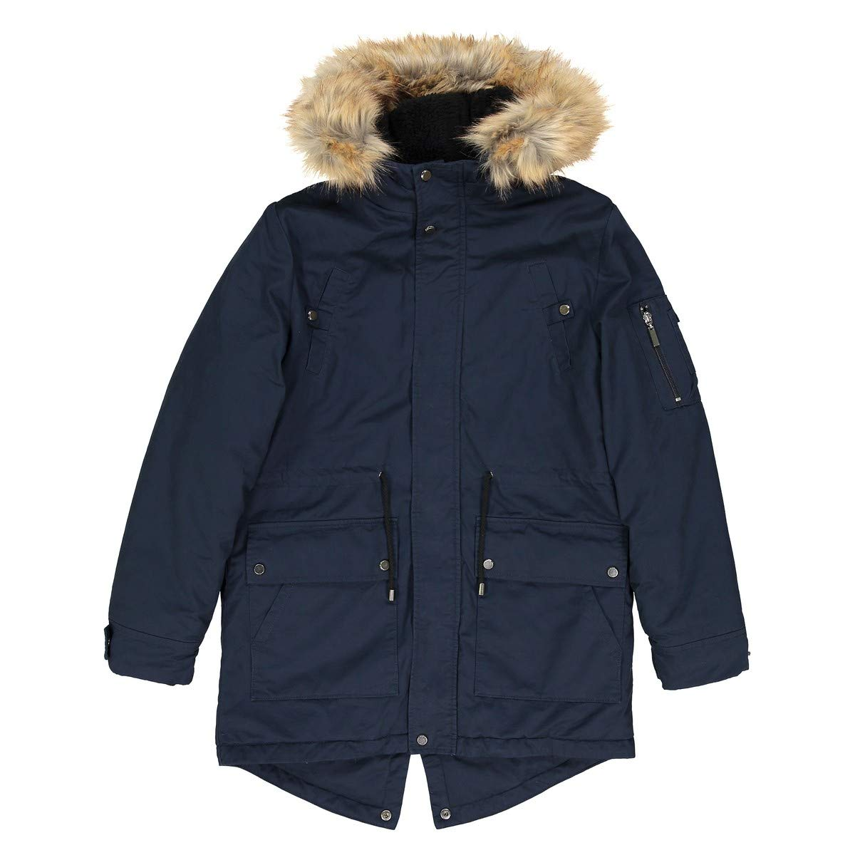 La Redoute Collections Big Boys Warm Parka, 10-16 Years Blue Size 16 Years - 68 in. by La Redoute (Image #4)